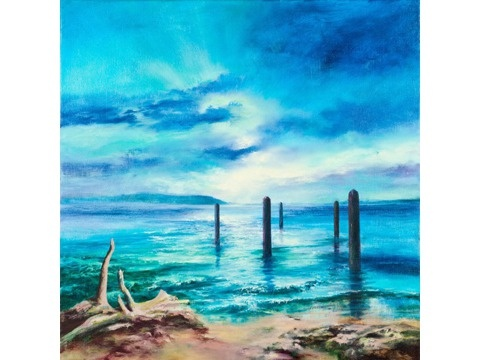 "Original Oil Painting ""Sentinels"""