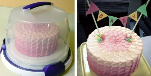 How to Decorate an Ombre Petal Buttercream Cake
