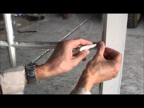 How to apply putty to attach glass to wood or metal window frame.