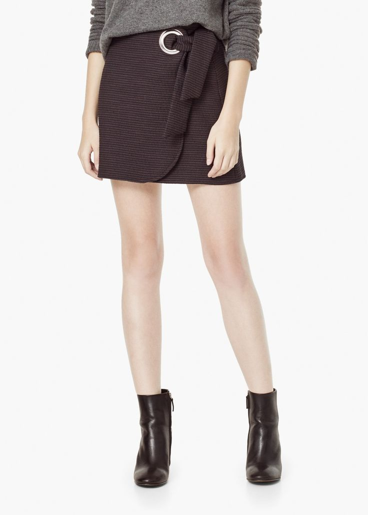 Textured cotton skirt - Skirts for Women | MANGO