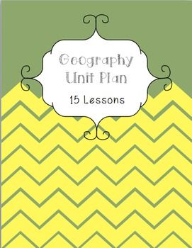Geography Unit Plan 15 Lessons Mapping Directions Bearings Scale