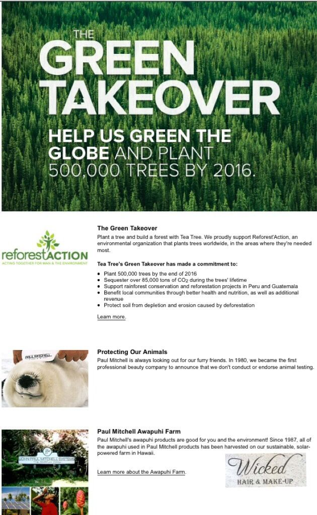 environmentally aware for our planet! #paulmitchell