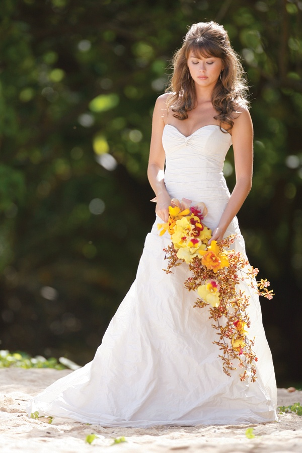 Flower File: Tropical Orchid Wedding Bouquets