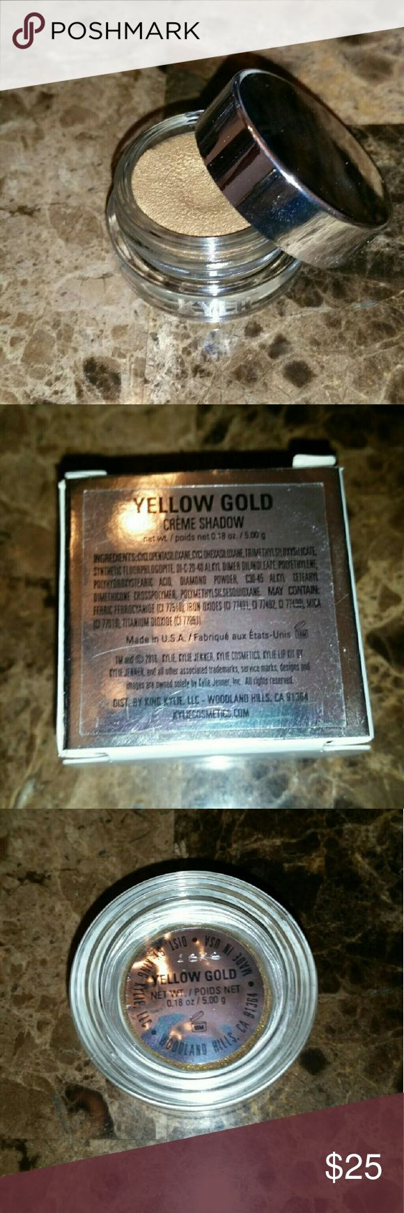 Kylie YELLOW GOLD Holiday Edition Creme Shadow Brand new never used!  AUTHENTIC Comes with a copy of my receipt :) Kylie Cosmetics Makeup Eyeshadow