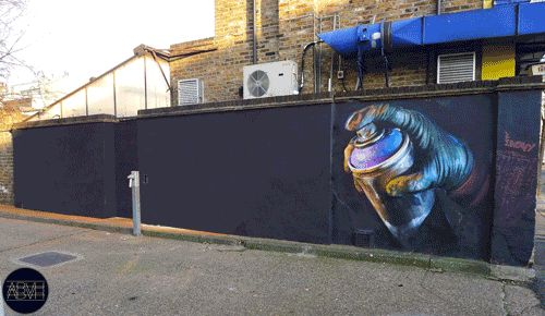 Street Art Brought To Life As Animated GIFs - DesignTAXI.com