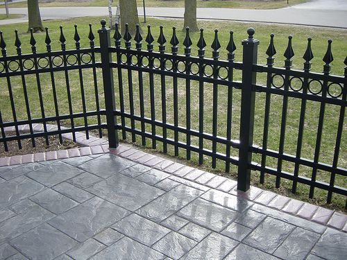 Residential Concrete 003, Residential Fence 007 | Patios, Wrought Iron  Fences And Stamped Concrete