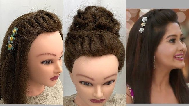 2 Awesome Easy Hairstyles For Wedding Or Function Youtube Simple Wedding Hairstyles Hair Puff Diy Hairstyles