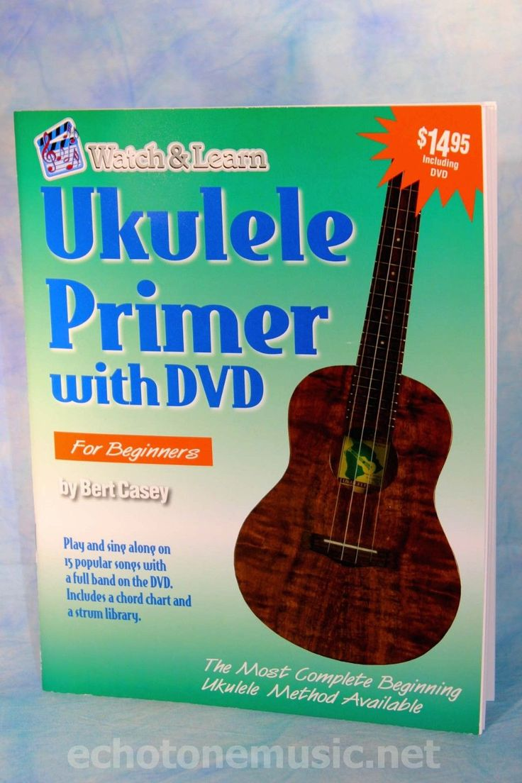 Watch & Learn Ukulele Beginner Lesson Book, With Audio DVD