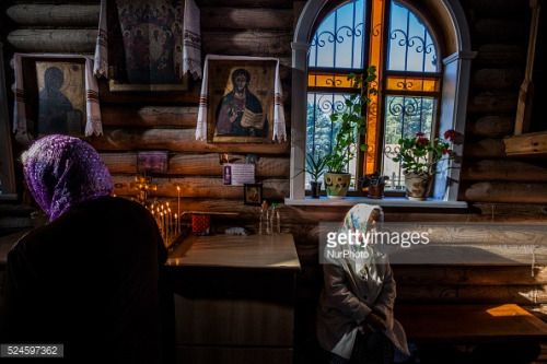 People in a holy mass in the church of Slavutich, Ukraine, city... #slavutych: People in a holy mass in the church of… #slavutych