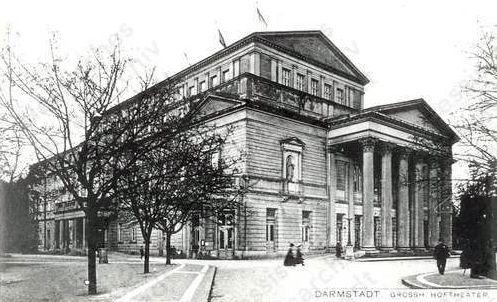 Das Darmstädter Hoftheater, 1906  Neueröffnung des Großherzoglichen Hoftheaters in Darmstadt, 17. September 1905
