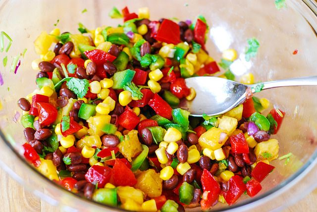Southwestern salsa with black beans, corn, and pineapple by ...