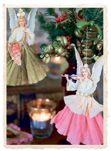 Ingen jul uden hjerter, stjerner, kurve, kræmmerhuse, trommer og engle. Vi har pustet nyt liv i den gamle klassiske pynt.