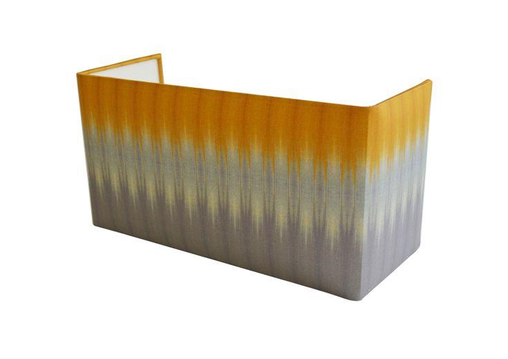 Grey/Ochre ikat Large Rectangle Shield wall shade