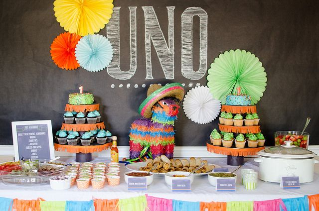 Uno Fiesta - Mexican Themed First Birthday Party- could be modified for any age! What fun!