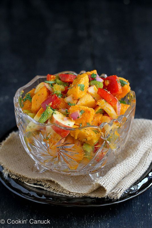 Sweet Potato & Apple Salad with Chipotle Lime Dressing   healthy snack idea