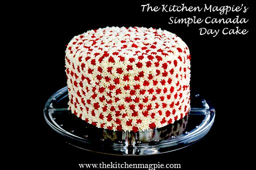 Simple Canada Day cake that anyone can make. #dessert #cake #canadaday
