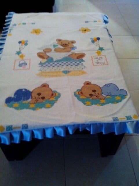 Κουβερτουλα με αρκουδακια!!!