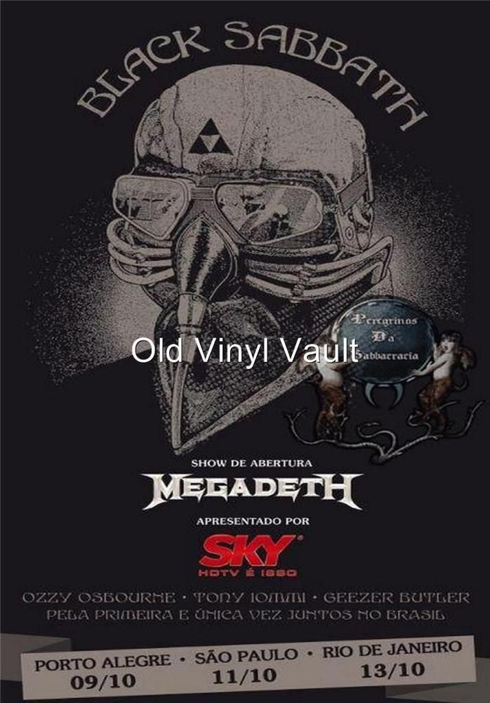Black Sabbath-Brazil 2013 concert poster