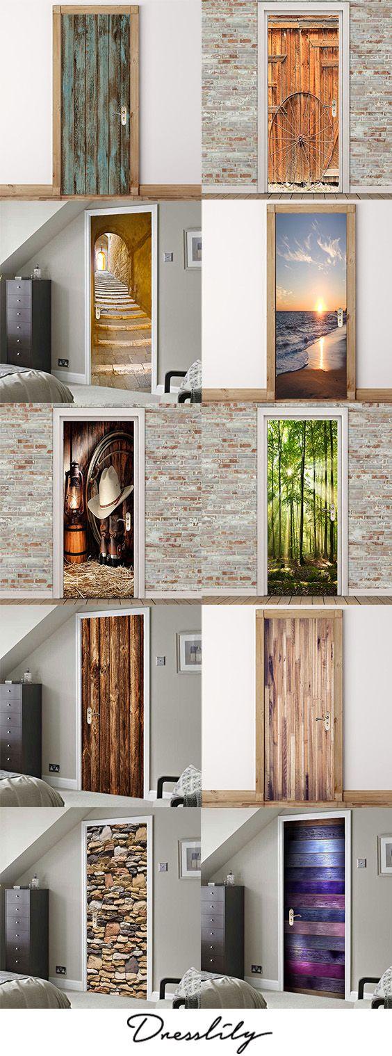Online shop for Home Accessories Decorative Foils Door Stickers at dresslily.com - Huge choice of Door Stickers Decorative Foils Home Accessories online!