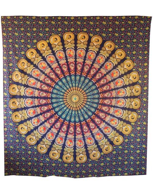 indian mandala tapestry hippie dorm throw bedcover from handicrunch by DaWanda.com