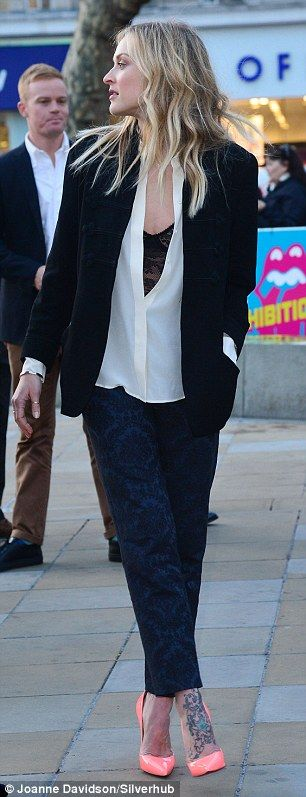 Fearne Cotton joins husband Jesse Wood at Rolling Stones exhibition