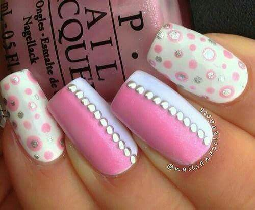 79 best nail art images on pinterest nail scissors pretty nails pink white and art image on we heart it prinsesfo Image collections