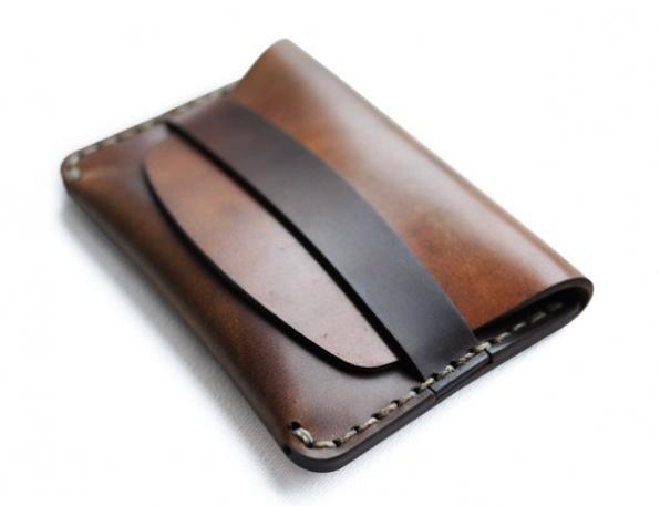 MAKR cordovan slim wallet