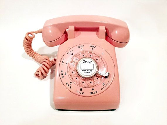 WORKING Pink Rotary Phone 60s by TheRotaryShoppe on Etsy, $90.00