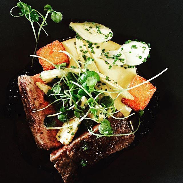 Paahdettua marmorifileetä, maissia ja tummaa tryffelikastiketta #långvik #dinner #langvikhotel http://www.langvik.fi/