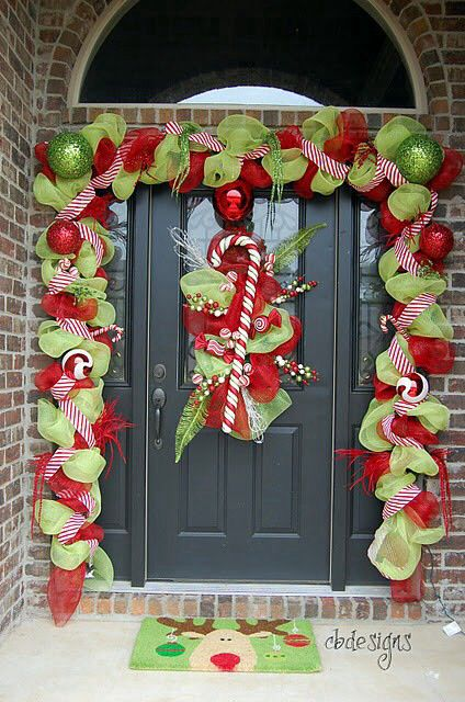 Door christmas decor