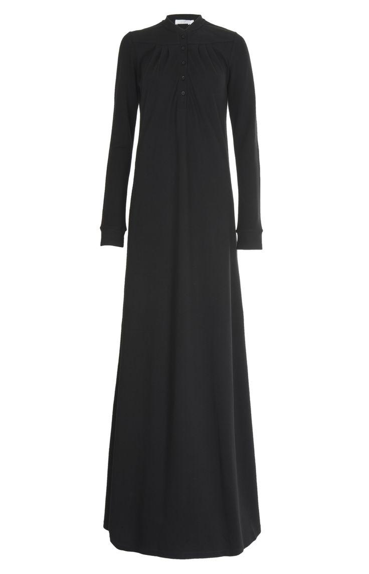 Aab UK Neat Pleats Abaya - Black : Standard view