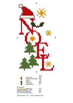 No l christmas il faut demander par email le diagramme la cr atrice grille gratuite - Point de croix noel grille gratuite ...