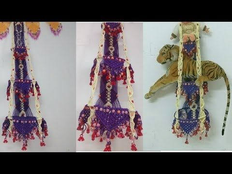 how to make macrame jhula 3 layer part -1 ,[ मे करम   का   झू ला ] - YouTube