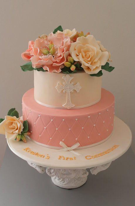 communion cake - by Sue Ghabach @ CakesDecor.com - cake decorating website