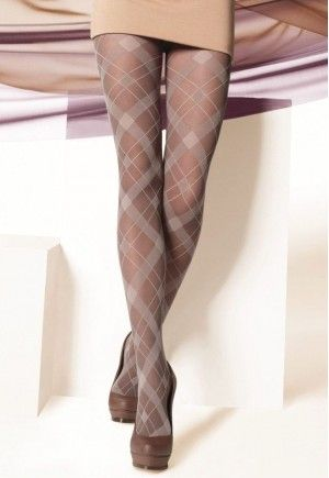 Argyle Patterned Fashion Tights by Gatta