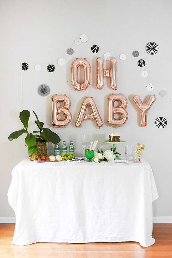 25 best ideas about baby shower decorations on pinterest for Baby shower wall decoration ideas
