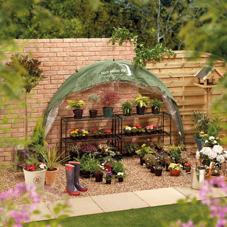 Fällbart växthus för väggmontering Horti Hood 90 #Väggväxthus #HortiHood90