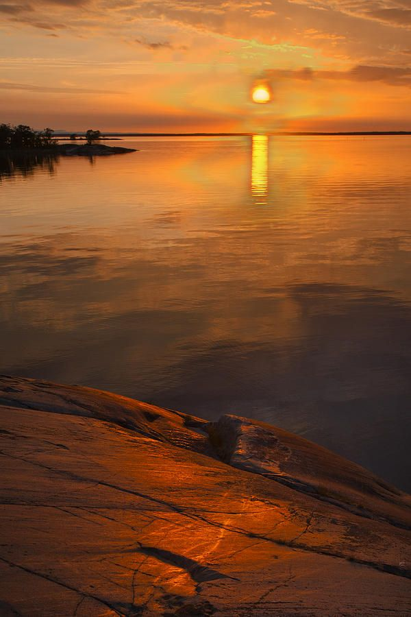 ✯ Summer Sunset in the Archipelago of Stockholm, Sweden