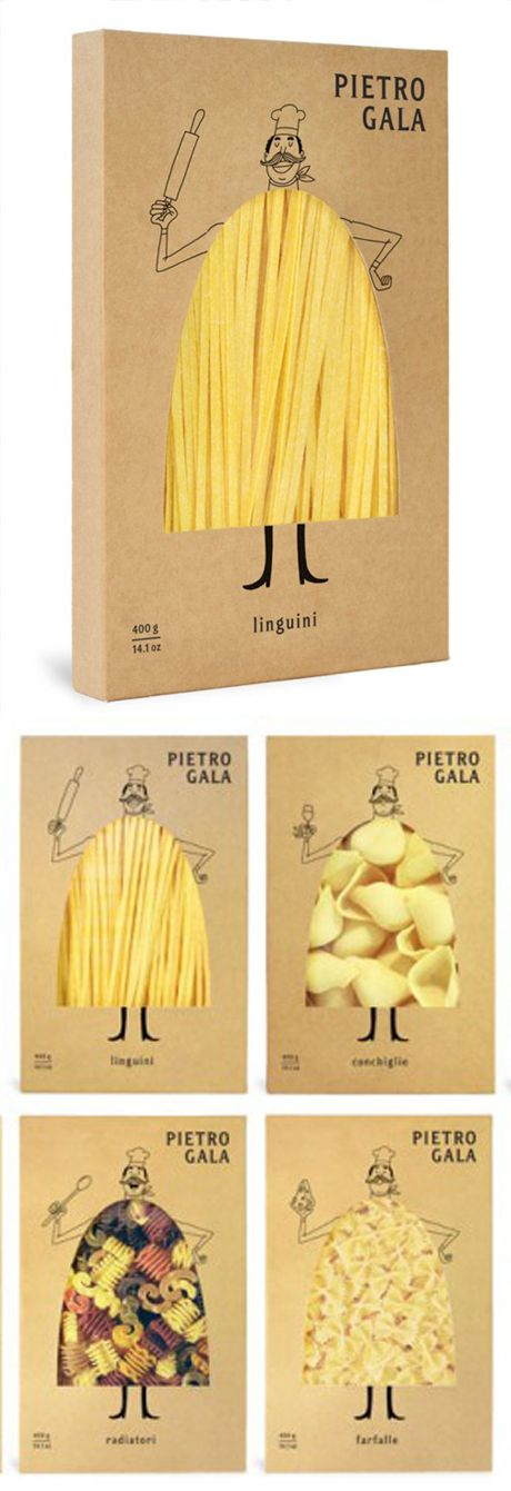 Pierrot Gala Pasta Packaging Design