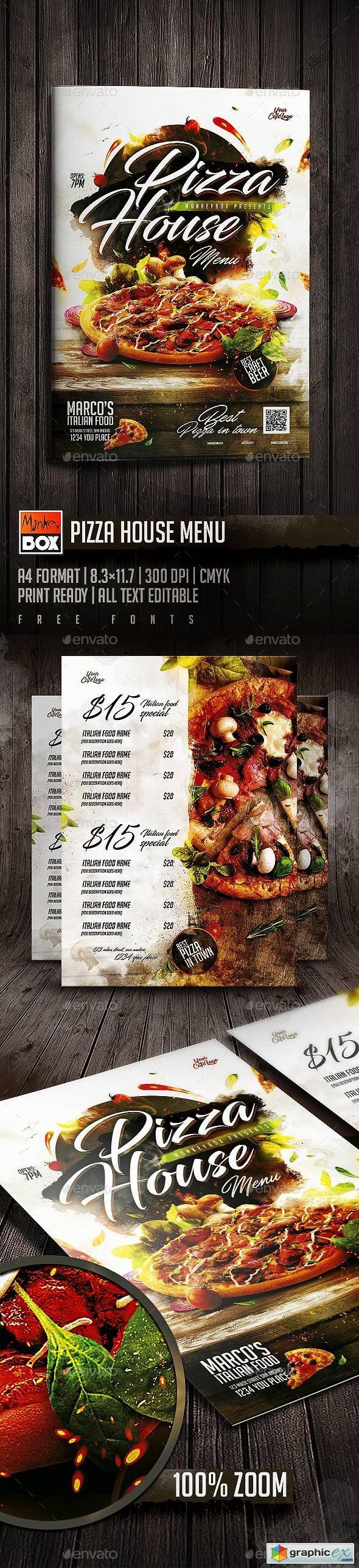 Best Food Menu Flyers Images On   Flyer Design Flyer