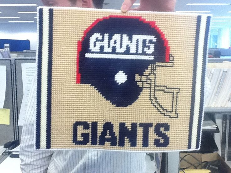 New York Giants Logo in Plastic Canvas by FourPawsCollectibles on Etsy https://www.etsy.com/listing/97594450/new-york-giants-logo-in-plastic-canvas