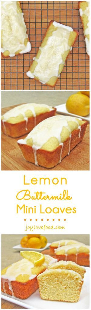 The classic combination of lemon and buttermilk is so delicious in these cheerful Lemon Buttermilk Mini Loaves, perfect for gift giving, a summer party or a sweet little treat anytime.
