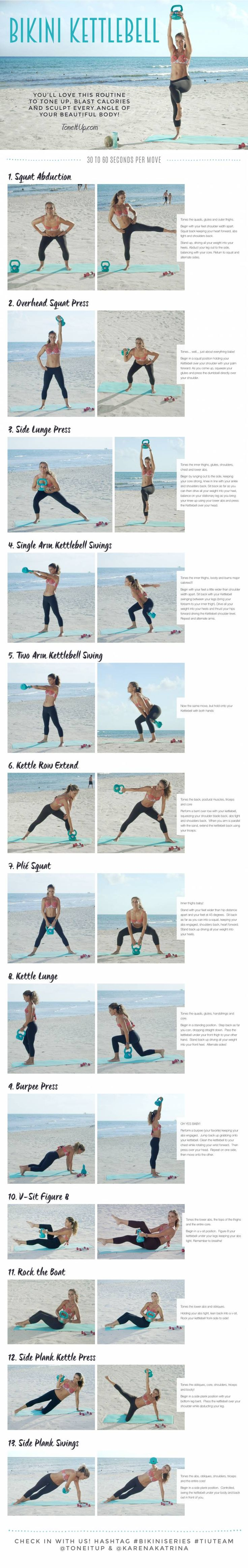 NEW Workout ~ BIKINI KETTLEBELL!                                                                                                                                                     More