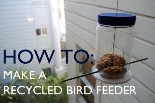 Check out my newest DIY - Make a recycled bird feeder from a peanut butter jar!