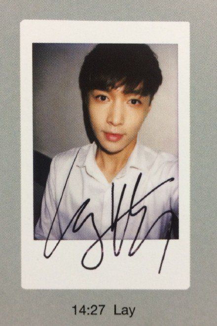 Lay - EXO-L Japan offical book - polaroid (cr night_in-day)