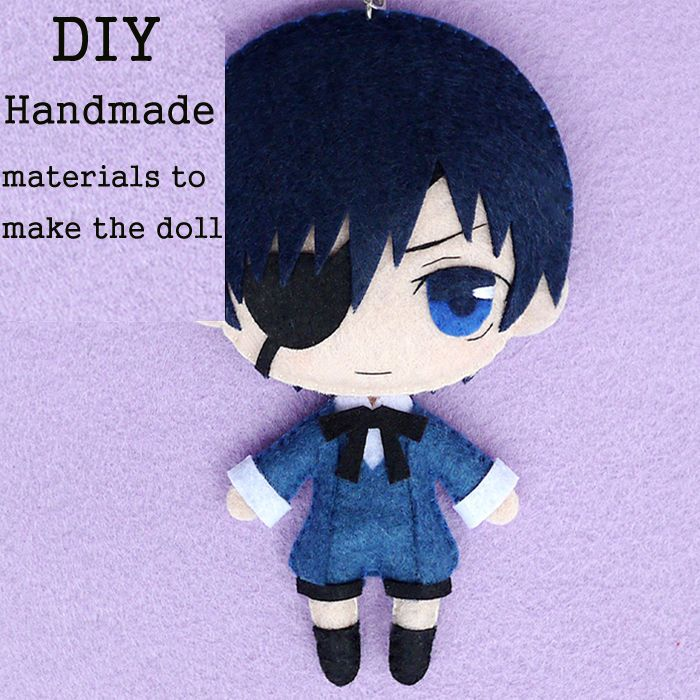Anime Seraph of the End Mikaela Hyakuy Cute DIY Material Kits Toy Doll keychain