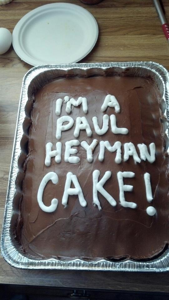 Yes, even the cakes are with Paul Heyman.