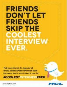 HCL #Twitter Recruitment Campaign #coolestinterviewever