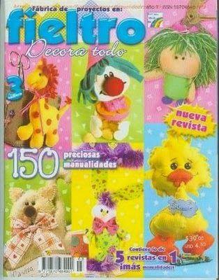 Revistas de manualidades Gratis: Revista de fieltro gratis