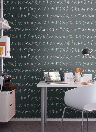 alphabet wallpaper by Quentin Blake